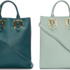 Sophie Hulme Leather Buckled Tote: Bright Minimalistic