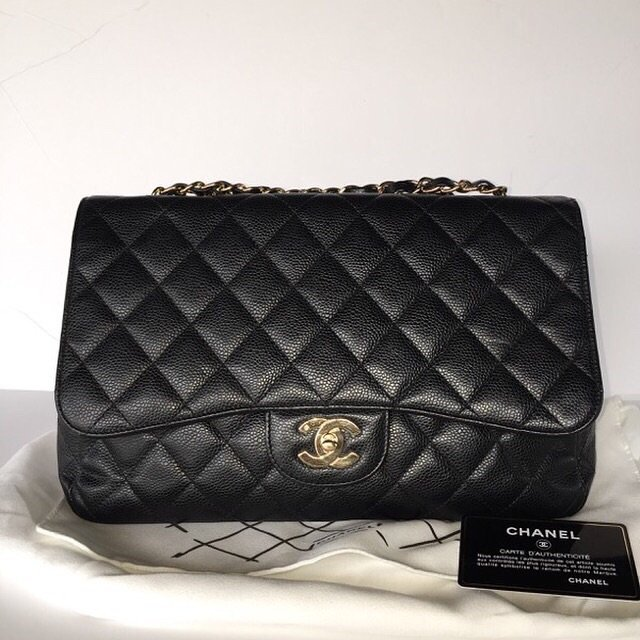 91bef0a30283 Hi guys I just bought a almost new looking condition jumbo caviar black  chanel bag. I wanted to know how can I check the authenticity of it?
