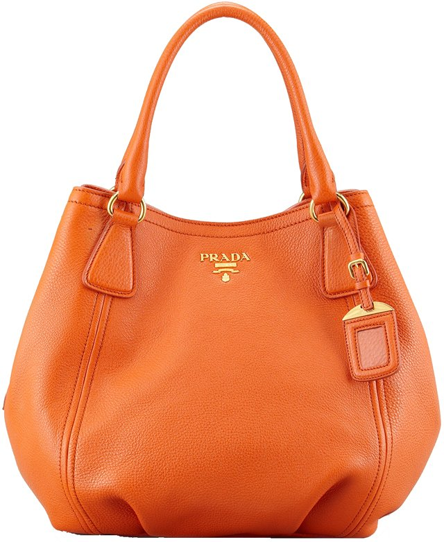 orange prada tote