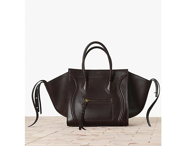 celine replica handbags - celine burgundy tri-color smooth leather and suede medium trapeze ...