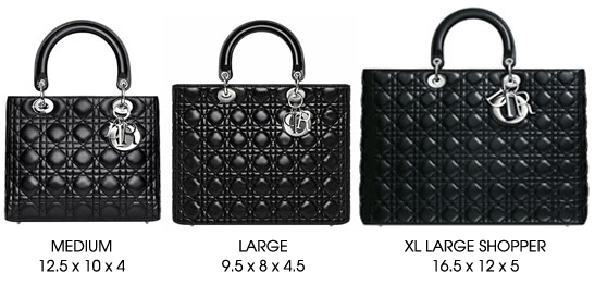 Lady Dior Size Chart