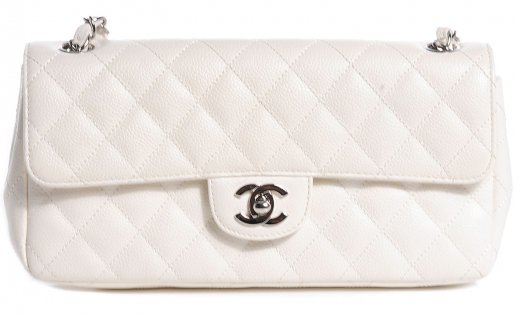 Chanel east west bag white