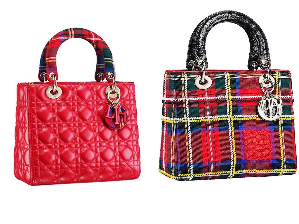 Dior-Red-Lady-Dior-Tartan-Bag-2013