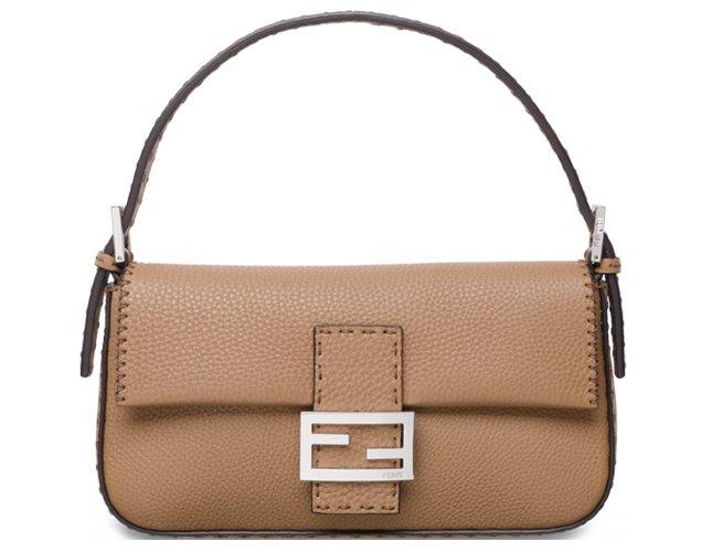 Fendi-Grained-Leather-Baguette-Bag-1