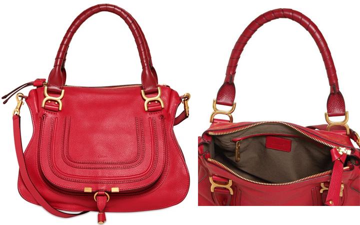 marcie chloe handbags on sale red