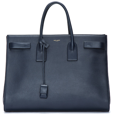 Saint-Laurent-Navy-blue-leather-Bo-Sac-de-Jour-Box-tote-1