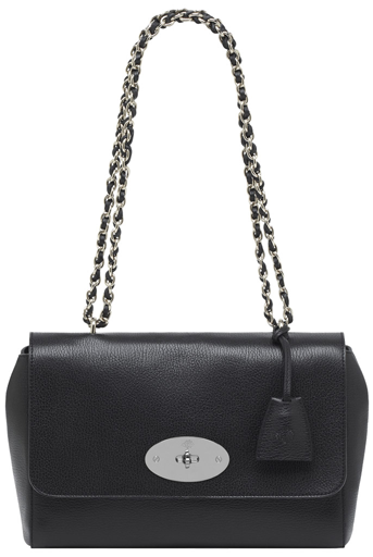45274d6e2279 Mulberry-lily-black-and-nickel-grainy-print-leather-. Mulberry Lily Medium  Shoulder Bag ...