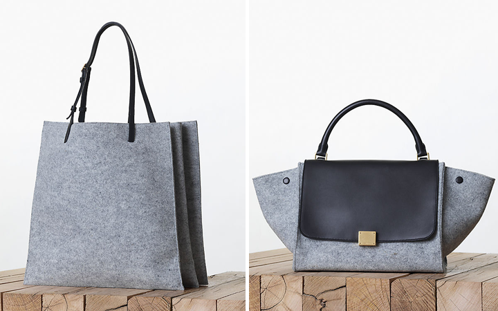 0cccaff0bfba Celine Fall 2013 Collection  The Felt Pearl Grey Trend – Bragmybag