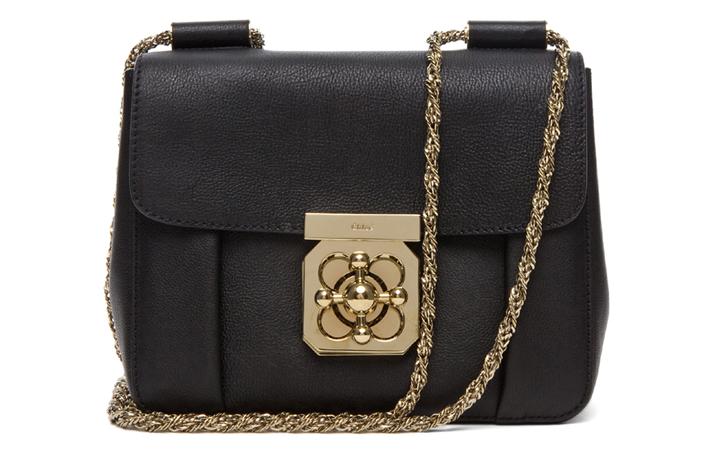 Chloe Elsie Shoulder Bag Black 75