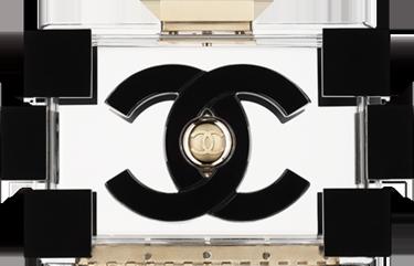 Chanel-minaudiere-plexiglass-clutch-with-long-chain-1