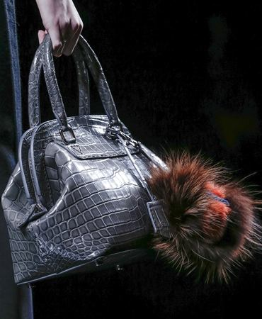 0c9bd7557f Fendi 2Jours Mink Fur On Leather Bag  Multi-colored Fame