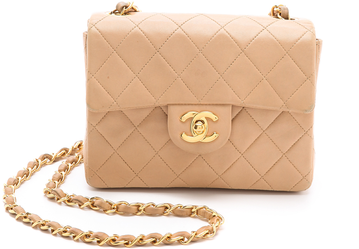Chanel Mini Classic Flap Bag Vintage: Beige, Mini And Fame ...