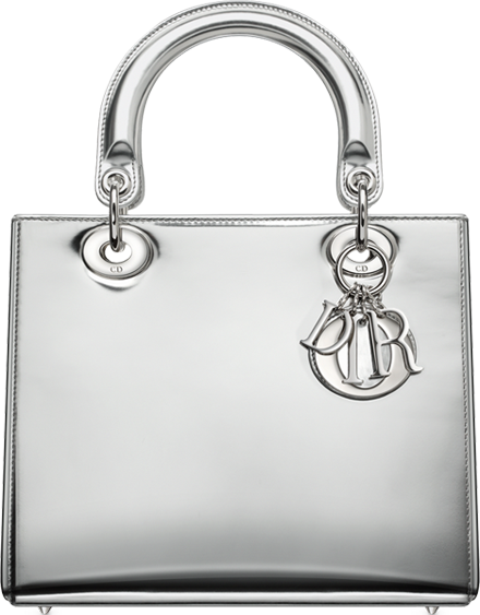 Argent-mirror-leather-Lady-Dior-bag-1