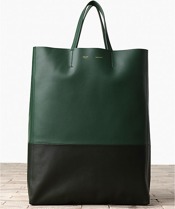 Celine-Bi-Cabas-in-Smooth-Lambskin-Bottle-Green-1
