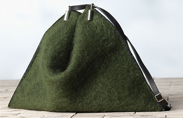 Celine-Fortune-Cookie-in-Brushed-Mohair-Army-Green-1