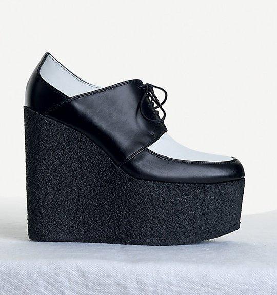 Celine-High-Wedge-in-Shiny-Calfskin-Black-White-1