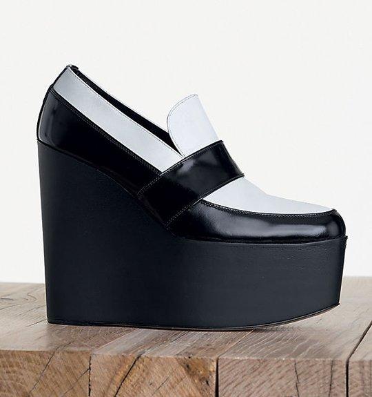 Celine-High-Wedge-in-Shiny-Calfskin-Black-White-2