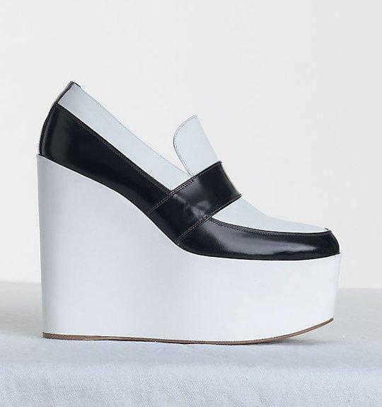 Celine-High-Wedge-in-Shiny-Calfskin-White-Black-1