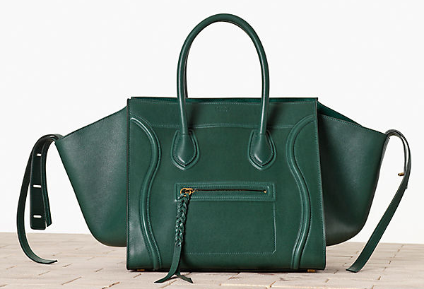 Celine-Luggage--hantom-in-Satinated-Calfskin-Bottle-Green-1