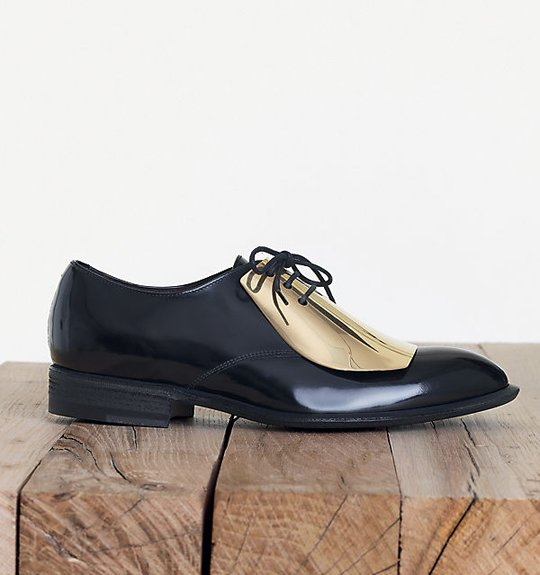 low shipping cheap online Céline Metallic Pointed-Toe Oxfords cost for sale new styles best seller sale online pre order cheap online igShZV5o