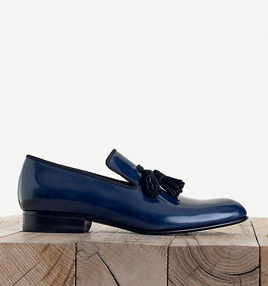 Tods Shiny Black Tuxedo Shoe