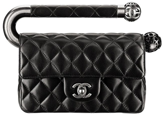 a86e0abd4f83 Chanel Fall Winter 2013 Collection  Classic Flap Bag With Metal Handle