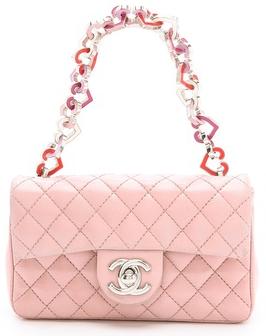 3a30d4ebedcc Chanel Pink Heart Valentine Flap Bag | Bragmybag