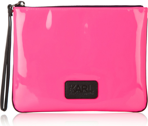 Karl-Lagerfeld-Neon-Patent-leather-pouch-1