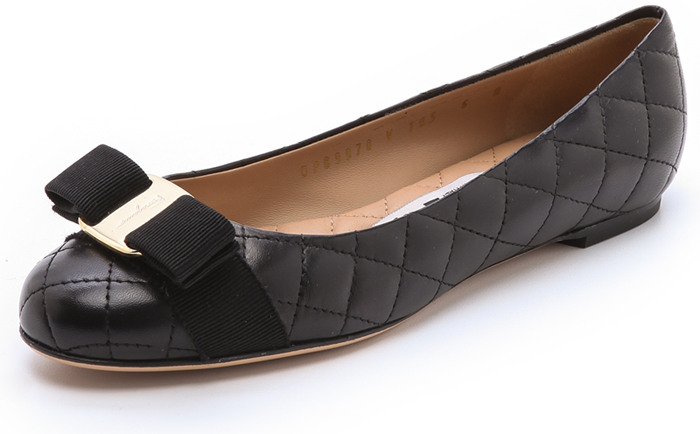 from china sale online Salvatore Ferragamo Quilted Vara Flats cheap fast delivery outlet where to buy ZIcegt