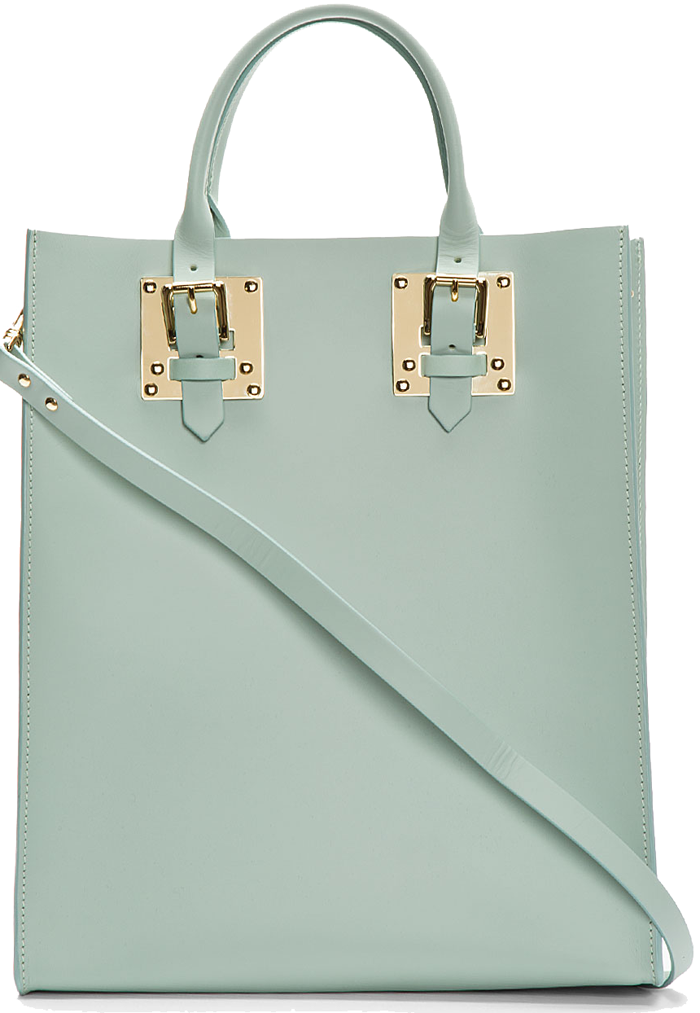Sophie-Hulme-Teal-Soft-Leather-Buckled-Tote-Light-Green-1