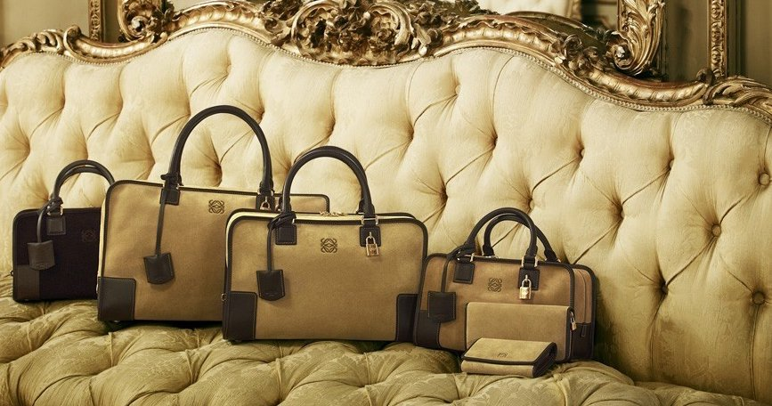 The Symbol Of Luxury With Loewe Amazona Bag In Gold And ...
