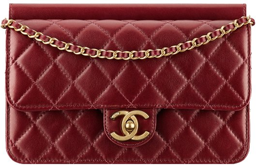 Chanel-Lambskin-flap-bag-with-an-interlaced-chain-1