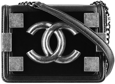 Chanel-Lambskin-flap-bag-with-clasp-black-1