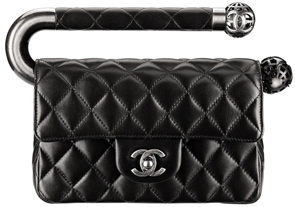Chanel-Shiny-Lambsin-Evening-Flap-Bag-Black-1