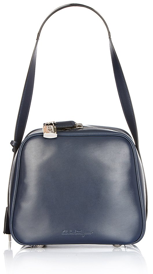 Ferragamo Camera Bag in Oxford Blue at e-store for 1,790