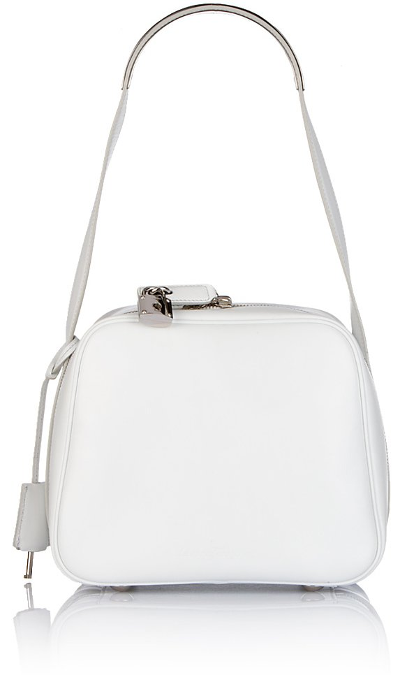 Ferragamo Camera Bag in Optical White at e-store for 1,790