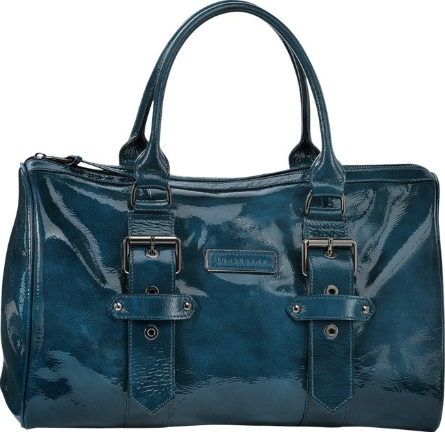 Kate Moss For Longchamp Duffle Bag in Blue Ceder Release ...