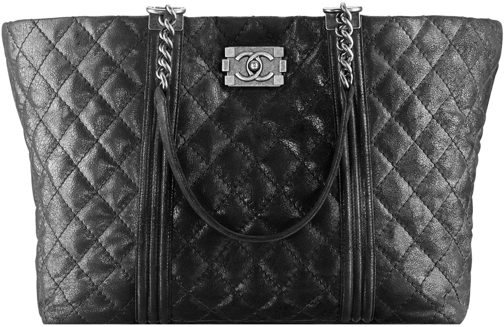 Large Goatskin Boy Chanel Shopping Bag
