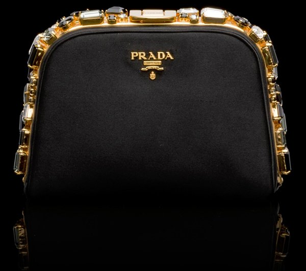 choice handbags wholesale - Prada Satin Clutch With Jewel-like Stones | Bragmybag