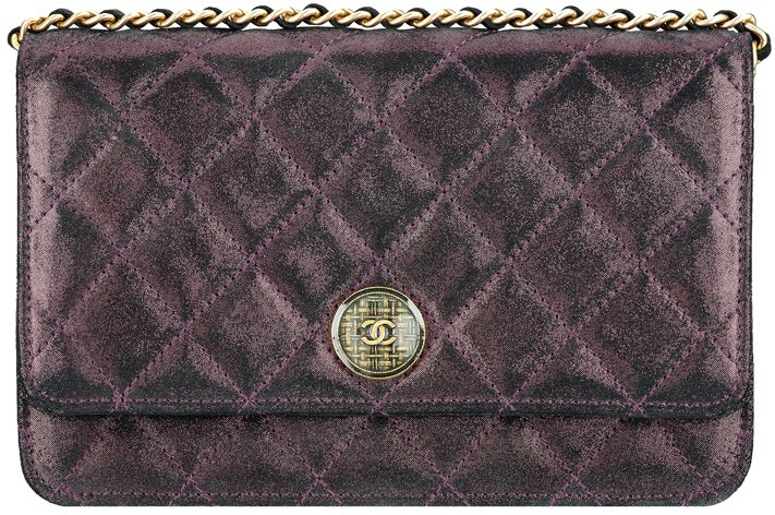 Chanel-Wallet-On-Chain-In-Iridescent-Lambskin-And-Tartan-Button