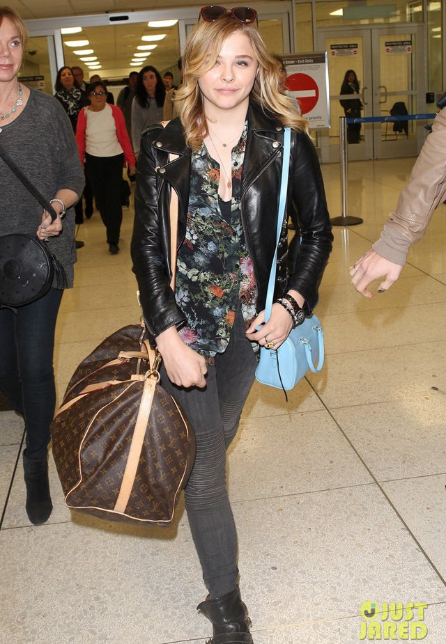 Street Snaps Chloe Moretz Carrying Louis Vuitton Travel
