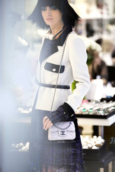 Chanel Extra Mini Classic Flap Bag In White Bragmybag