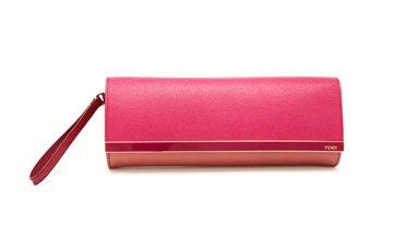 c1721d31d26d Fendi Grained Leather Clutch Bag