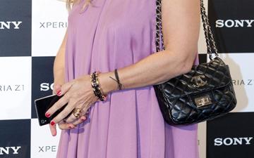 cd7745bec312 Street Snaps  Nastassja Kinski Carries Chanel Micro Mini Flap Bag ...