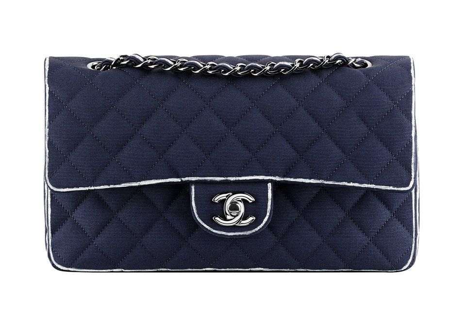 a88b0b57eb72 ... the fruit of the cruise 2014 collection. Whatever your taste is, Chanel  has it; striped check!, iconic check!, floral prints check! New boy bags  check!
