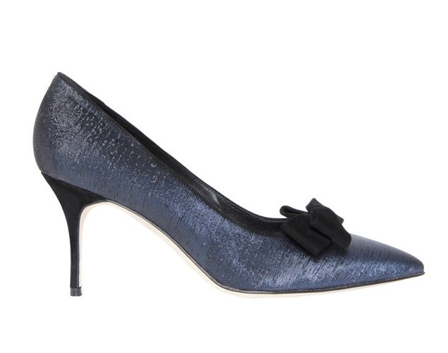 Manolo Blahnik Blue Christmas Shoes
