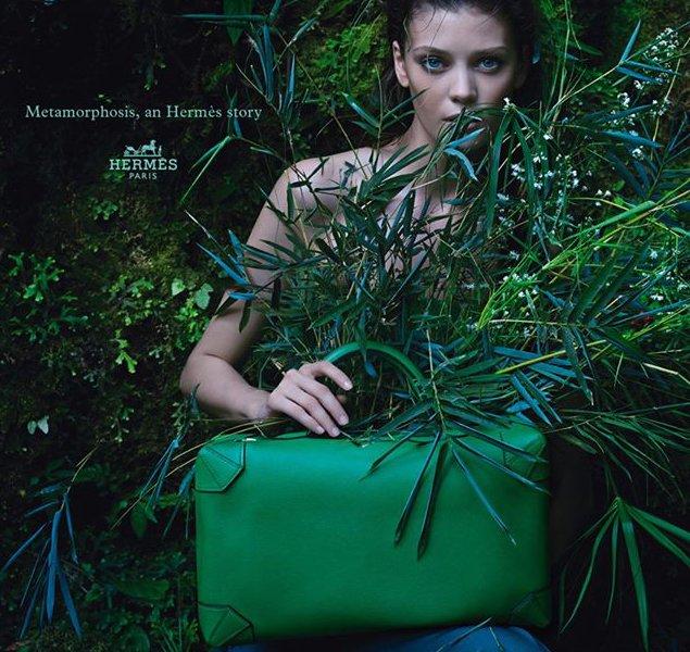 """Maxibox"" bag in Evercolor calfskin."