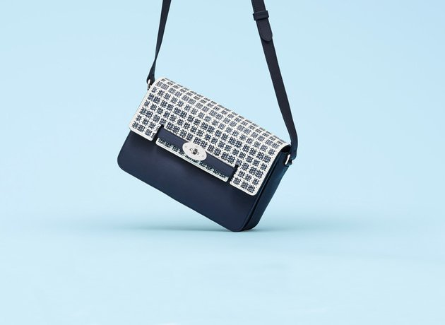 49ae7281f8 Mulberry Bayswater Shoulder Bag in Midnight Blue And Dotty Cream ...
