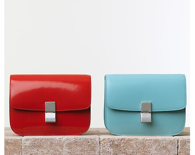Celine-Classic-Handbag-Spazzolato-Vermilion-Azur