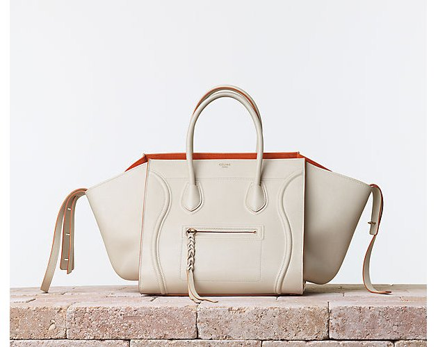 Celine-Luggage-Phantom-Handbag-Smooth-Calfskin-Chalk